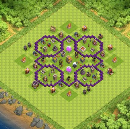 Town Hall 7 Farming Base Clash Of Clans | Update 2017 | Hering