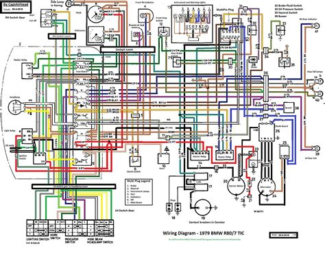 BMW R80/7 TIC updated wiring diagram | This wiring diagram