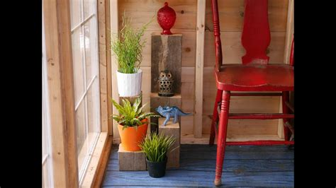 DIY scrap wood plant stands, in a salvaged material