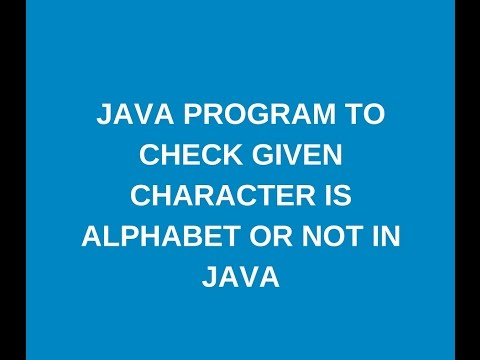 How To Print Alphabet Pattern In JAVA
