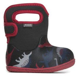 Baby Bogs Dino Black Red   Happy Little Soles