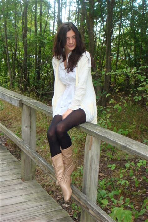 White Pepe Jeans London Dresses, Black Unknown Tights