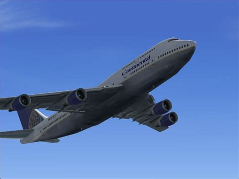 Boeing 747-400 Continental Airlines Default Textures Only