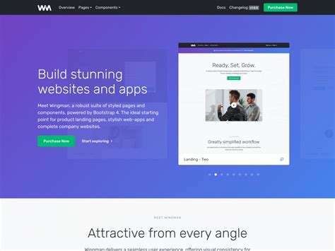 Wingman Landing Page & App Template - Bootstrap Themes